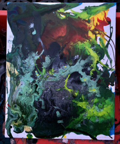 abstract coloured painting